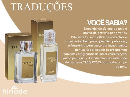 hinode perfumes - traduções gold - 100ml - à pronta entrega