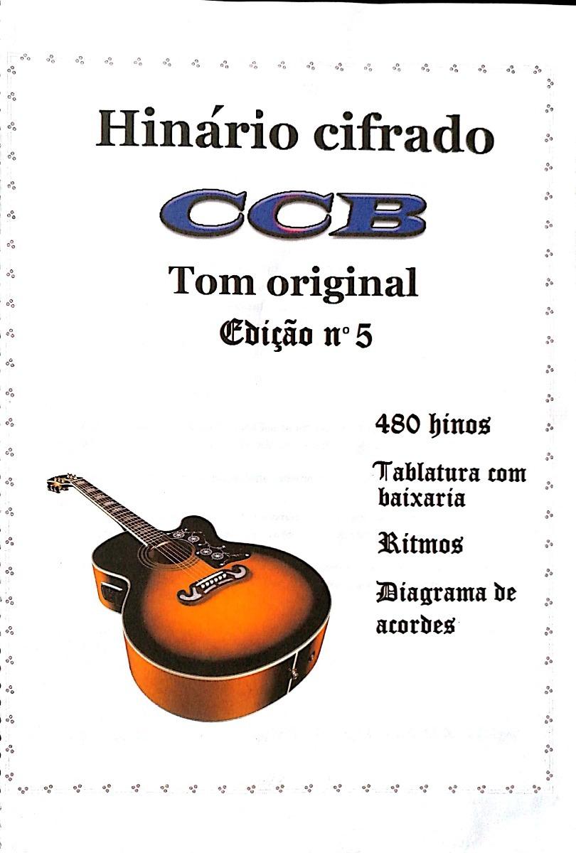 Hinos Da Ccb No Tom Do Hinario Edicao N 5 Violao Colorido R