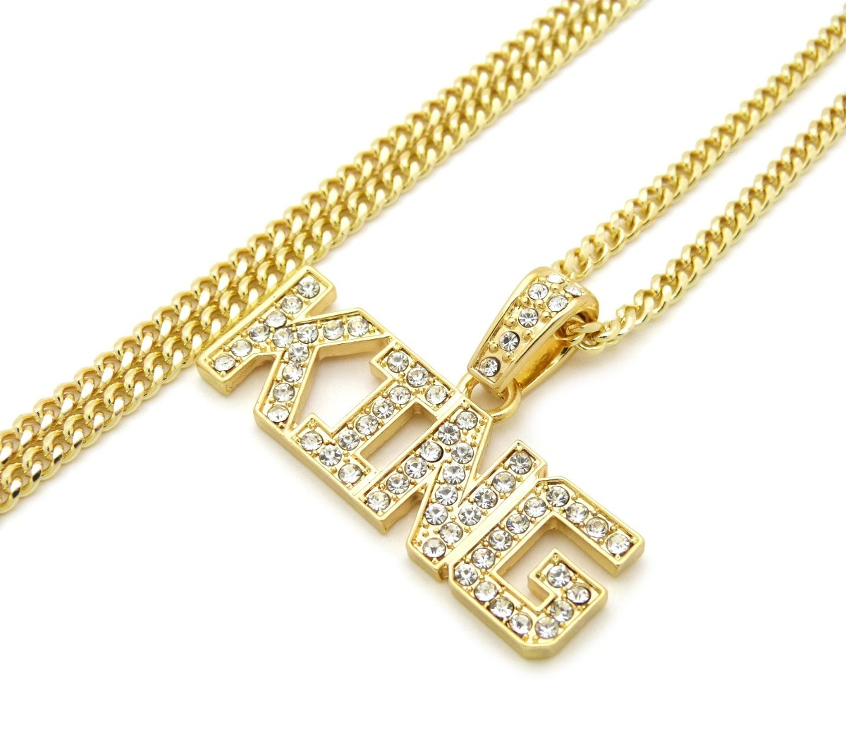 Hip hop micro helado king word pendant 24 inchvarios collar cargando zoom aloadofball Choice Image