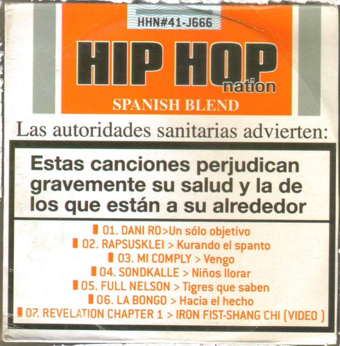 hip hop nation - spanish blend ( hip hop rap español ) cd