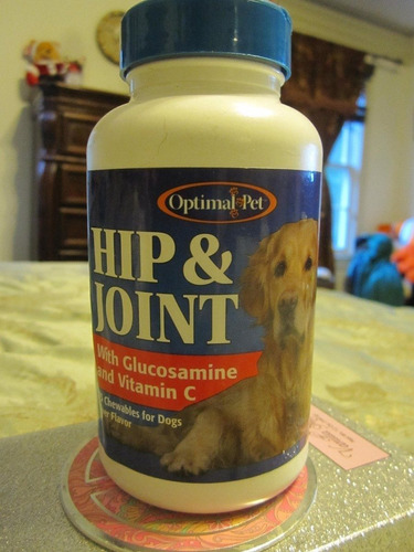hip & joint glucosamine con vitamina c marca optimal pet