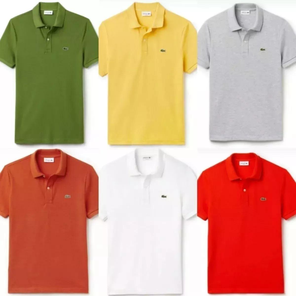 40ca0ccd5969d Hiper Barato!!! C 5 Camisa Polo Lacoste Masculina Atacado - R  189 ...