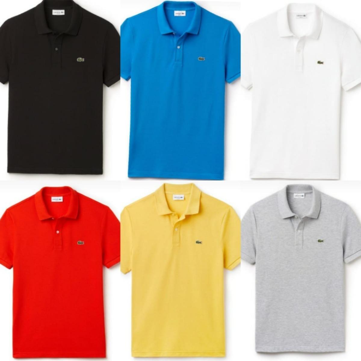 e445756e144bb Hiper Barato Kit 5 Camisas Polo Masculina Lacoste - R  189