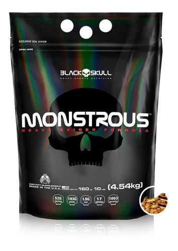 hipercalorico importado monstrous gainer 4,54kg black skull