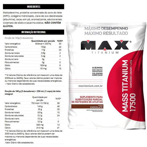hipercalórico mass titanium max titanium