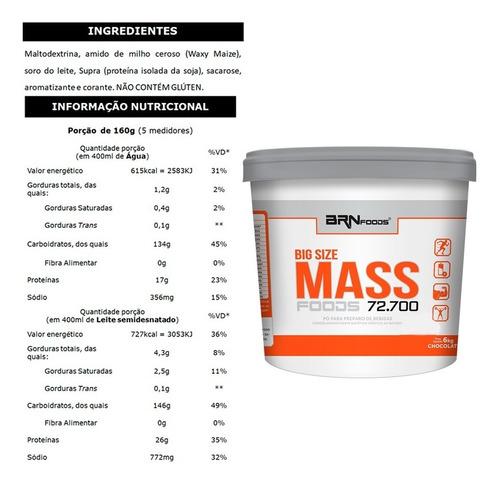 hipercalorico size mass 6kg brn foods