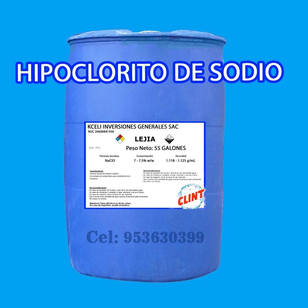 Hipoclorito de sodio s 1 00 en mercado libre for Hipoclorito de sodio para piscinas