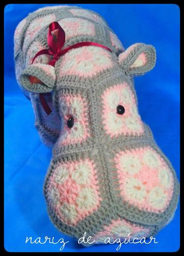 hipopótamo xl entrega inmediata - nariz de azúcar amigurumis