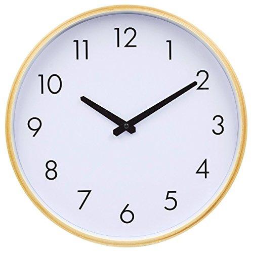 hippih pared de reloj de pared silenciosa 12 pulgadas no ti