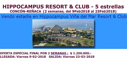 hippocampus resort&club x semana del 9 al 23 febr.2018 6pers
