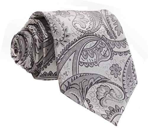 hisdern pañuelo corbata con lazo floral extra larga para hom