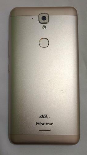 hisense f23 dorado, lector huella, estetica 9.5, caja, libre