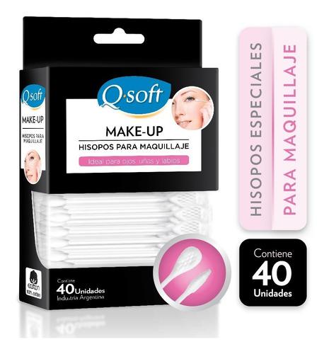 hisopos para maquillaje q-soft (24 paquetes)
