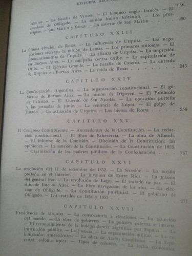 historia argentina. 2 tomos. julio aramburu.