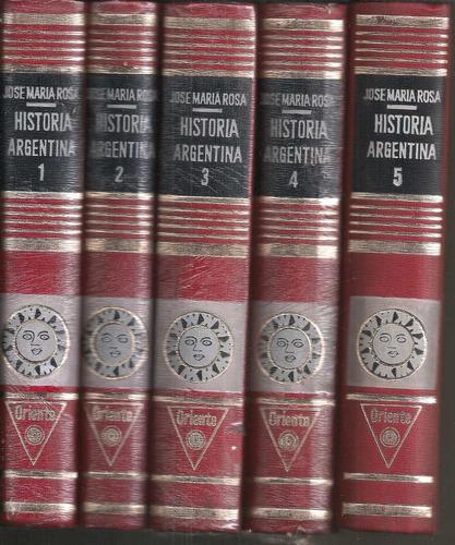 historia argentina j m rosa 5ts. (e)