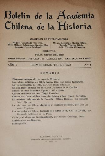 historia chile boletin muebles pintura 1933 diego portales