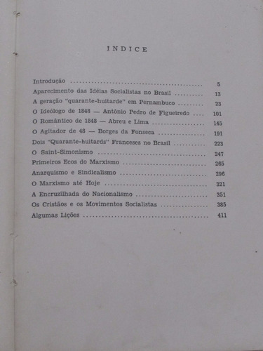 história das ideias socialistas no brasil - vamireh chacon