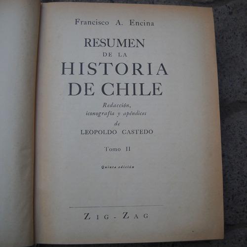 historia de chile, encina y castedo, ed. zig zag, quinta edi
