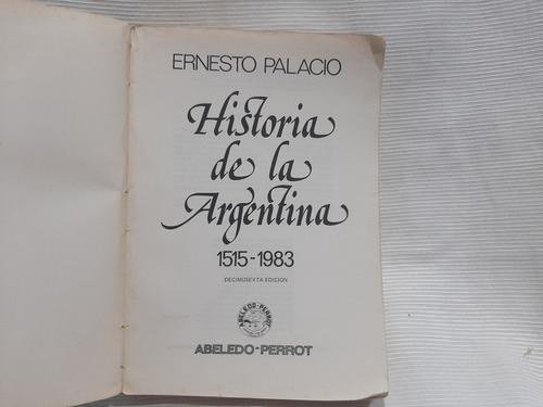 historia de la argentina ernesto palacio abeledo perrot