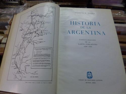 historia de la argentina, vicente sierra (1600-1700)