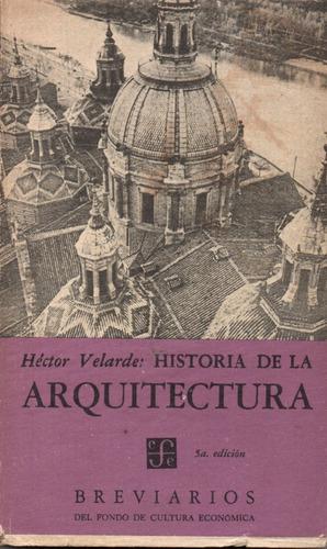 historia de la arquitectura / héctor velarde