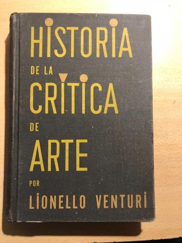historia de la crítica de arte - lionello venturi - poseidón