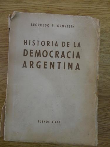 historia de la democracia argentina leopoldo ornstein