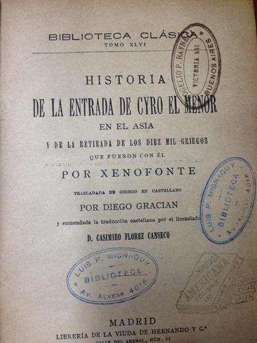 historia de la entrada de cyro el menor. 1892