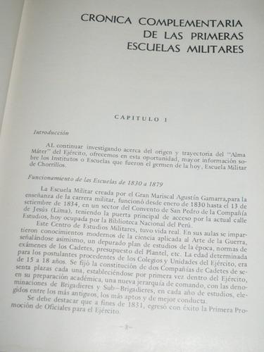 historia de la escuela militar de chorrillos