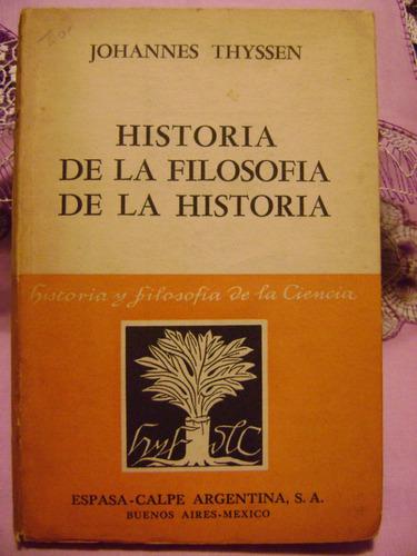 historia de la filosofia de la historia johannes thyssen