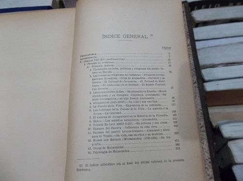 historia de la filosofia española siglos 8/12 judios bonilla
