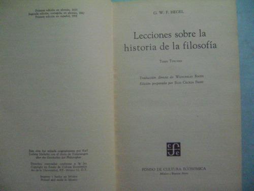 historia de la filosofia / hegel  tomo 2 y 3