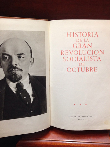 historia de la gran revolución socialista de octubre.
