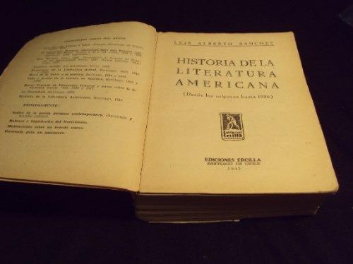 historia de la literatura americana, luis sanchez 1937