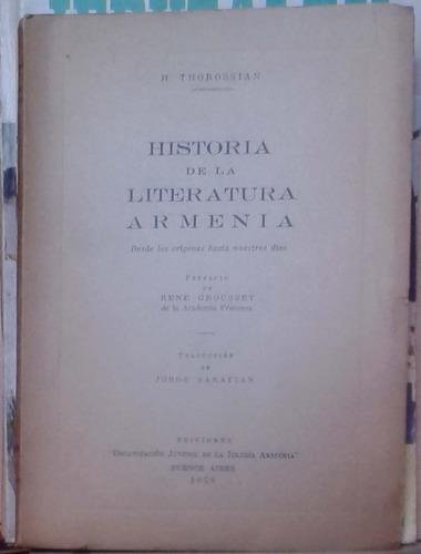historia de la literatura armenia - thorossian - organizacio