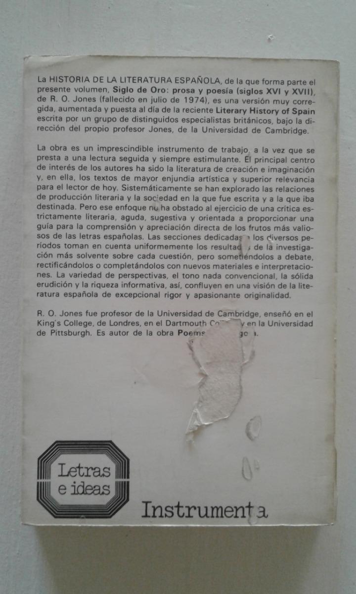Historia y critica de la literatura espanola 2/1 Siglos de Oro ...