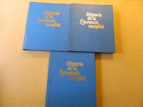 historia de la literatura mundial - 3 tomos