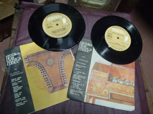historia de la musica codex 115 discos vinilos simples