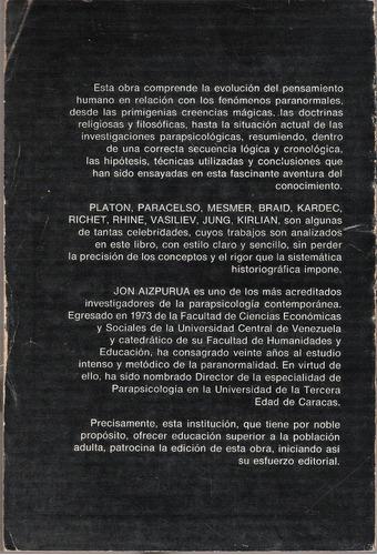 historia de la parapsicología de jon aizpurúa, libro físico