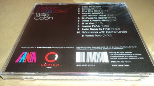 historia de la salsa - willie colon cd coleccion fania