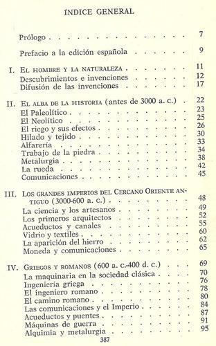 historia de la técnica. r. j. forbes.