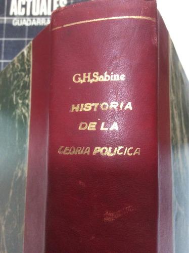 historia de la teoría política george h. sabine