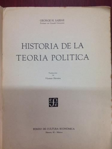 historia de la teoría política. george h. sabine