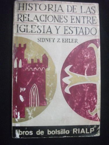 historia de las relaciones entre iglesia y estado-s. ehler