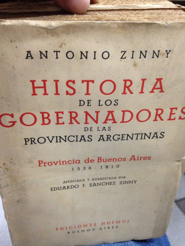 historia de los gobernadores de las provincias argentinas