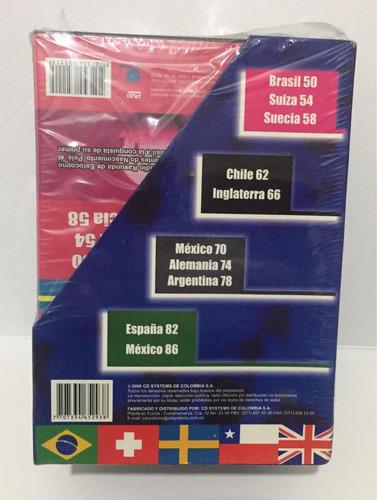 historia de los mundiales de futbol - 8 dvd - mundial