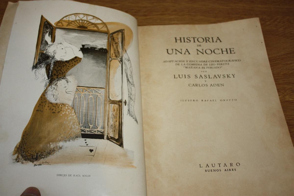 Historia De Una Noche - Luis Saslavsky / Carlos Aden - $ 120,00 en ...