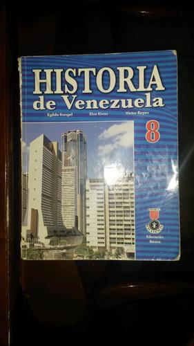 historia de venezuela 8° grado egilda rangel edt. excelencia