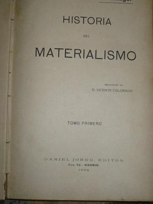historia del materialismo