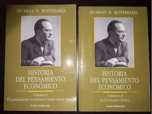 historia del pensamiento económico 1 y 2 rothbard